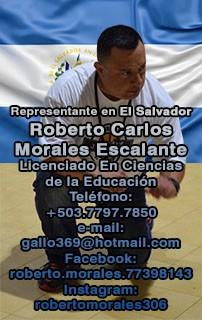 Representante en El Salvador - Roberto Carlos Morales Escalante
