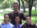 """Huevo Sánchez  Album: NBA 2005  Con los """"hermanitos"""" Ginóbili"""