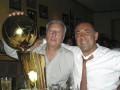 Huevo Sánchez  Album: NBA 2005  Con Jorge Ginóbili y la copa