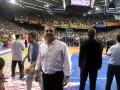 Huevo Sánchez  Album: Forum Entrenadores 2009  En la cancha de Barcelona (El Palau) donde salio campeón el barse
