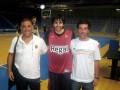 Huevo Sánchez  Album: Euroliga 2011  Con Riky Rubio y el Gallego de Paz